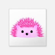 "Hedgy the Hedgehog Square Sticker 3"" x 3"""