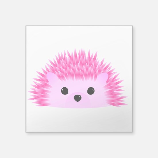 "Hedgy the Hedgehog Square Sticker 3"" x 3"""