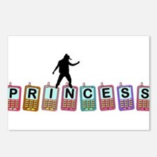 Rocking Cell Phone Princess Postcards (Package of