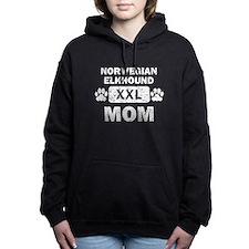 Norwegian Elkhound Mom Women's Hooded Sweatshirt