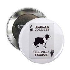 Border Collie Playing Card Ace Button