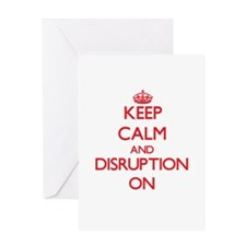 Disruption Greeting Cards