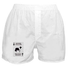 Border Collie Playing Card Ace Boxer Shorts
