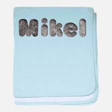Mikel Wolf baby blanket