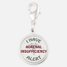 ADRENAL INSUFFICIENCY Silver Round Charm