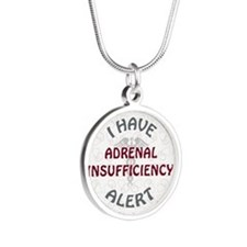 ADRENAL INSUFFICIENCY Silver Round Necklace
