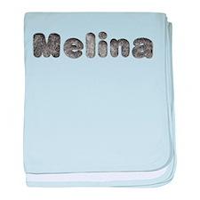 Melina Wolf baby blanket