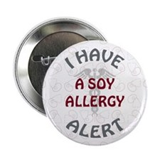 """SOY ALLERGY 2.25"""" Button (10 pack)"""
