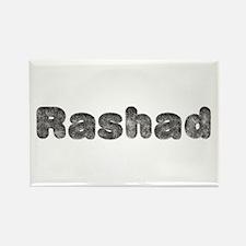 Rashad Wolf Rectangle Magnet