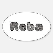 Reba Wolf Oval Decal