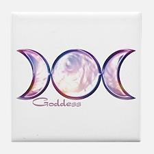 Triple Moon Goddess Tile Coaster