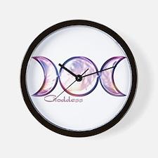 Triple Moon Goddess Wall Clock