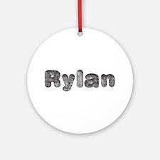 Rylan Wolf Round Ornament