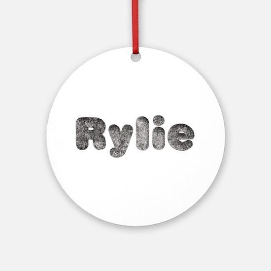 Rylie Wolf Round Ornament