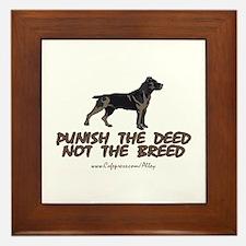 Punish The Deed Framed Tile