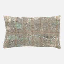 Vintage Map of London (1890) Pillow Case