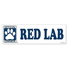 RED LAB Bumper Bumper Sticker