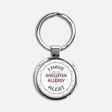 SHELLFISH ALLERGY Round Keychain
