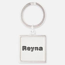 Reyna Wolf Square Keychain