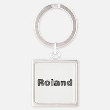 Roland Wolf Square Keychain