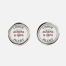 ASTHMA & COPD Round Cufflinks