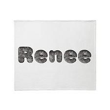 Renee Wolf Throw Blanket