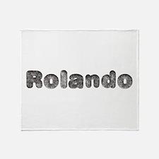 Rolando Wolf Throw Blanket