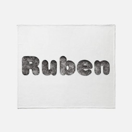 Ruben Wolf Throw Blanket