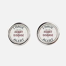 HEART DISEASE Round Cufflinks