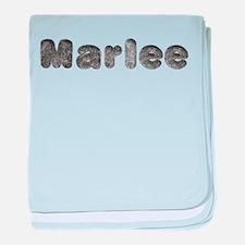 Marlee Wolf baby blanket