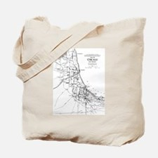 Vintage Map of The Chicago Railroad Netwo Tote Bag