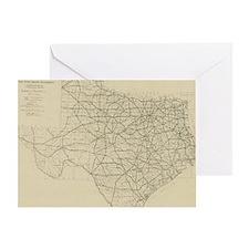 Vintage Texas Highway Map (1919) Greeting Card