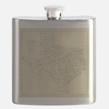 Vintage Texas Highway Map (1919) Flask