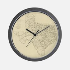 Vintage Texas Highway Map (1919) Wall Clock