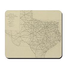 Vintage Texas Highway Map (1919) Mousepad