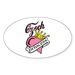 Czech Princess Oval Decal