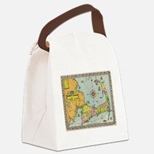 Vintage Map of Cape Cod Canvas Lunch Bag