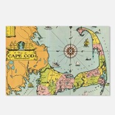 Vintage Map of Cape Cod Postcards (Package of 8)