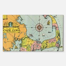 Vintage Map of Cape Cod Decal