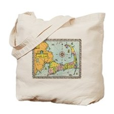 Vintage Map of Cape Cod Tote Bag