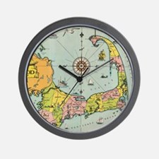Vintage Map of Cape Cod Wall Clock