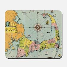 Vintage Map of Cape Cod Mousepad