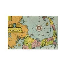 Vintage Map of Cape Cod Rectangle Magnet
