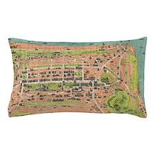 Vintage Map of Edinburgh Scotland (193 Pillow Case