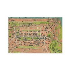 Vintage Map of Edinburgh Scotland Rectangle Magnet