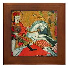 Saint George Framed Tile
