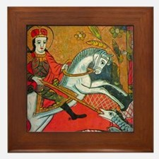 Saint George Framed Tile