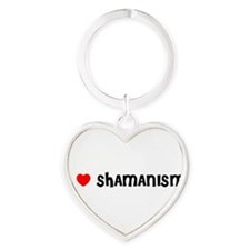 Cute Shamanism Heart Keychain