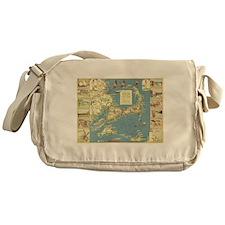 Vintage Cape Cod Map (1940) Messenger Bag