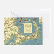 Vintage Cape Cod Map (1940) Greeting Card